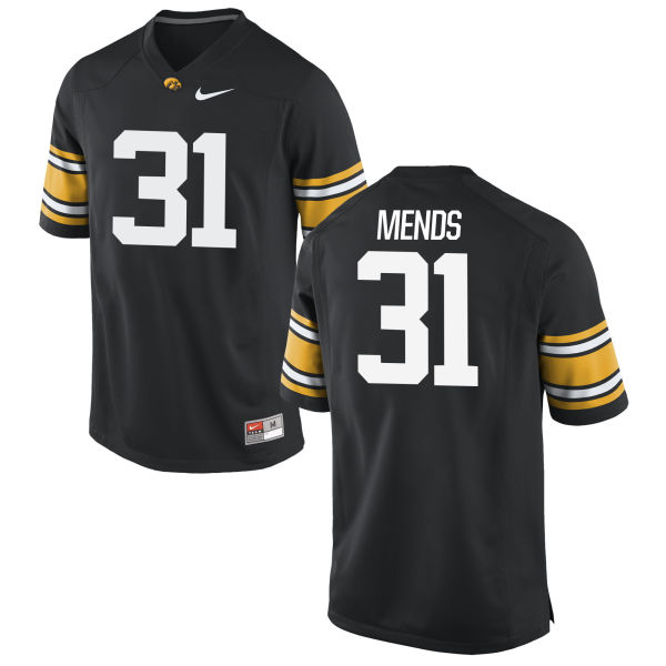 Youth Nike Aaron Mends Iowa Hawkeyes Game Black Football Jersey