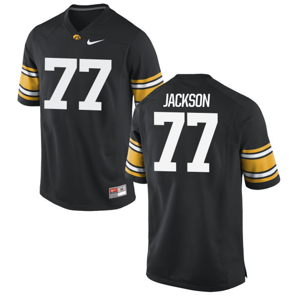 Men's Nike Alaric Jackson Iowa Hawkeyes Game Black Football Jersey