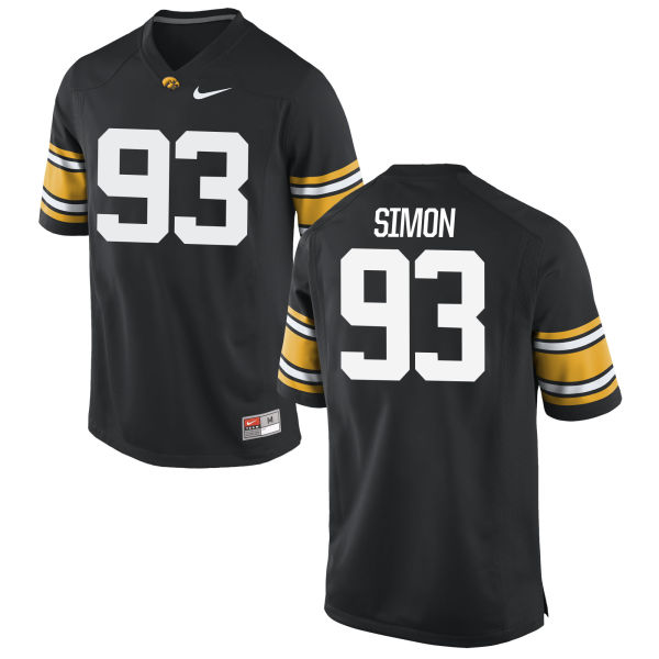 Men's Nike Brandon Simon Iowa Hawkeyes Game Black Football Jersey