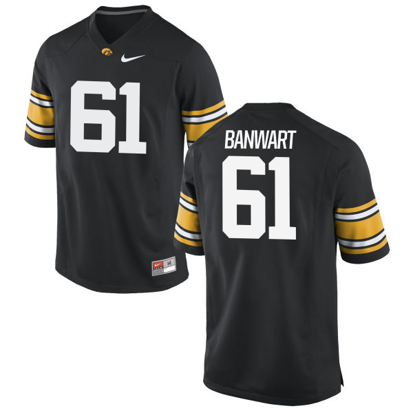 Men's Nike Cole Banwart Iowa Hawkeyes Game Black Football Jersey