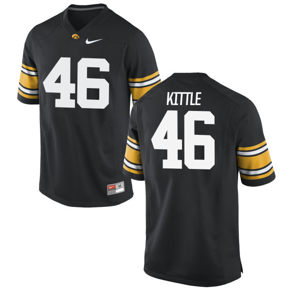 Men's Nike George Kittle Iowa Hawkeyes Game Black Football Jersey