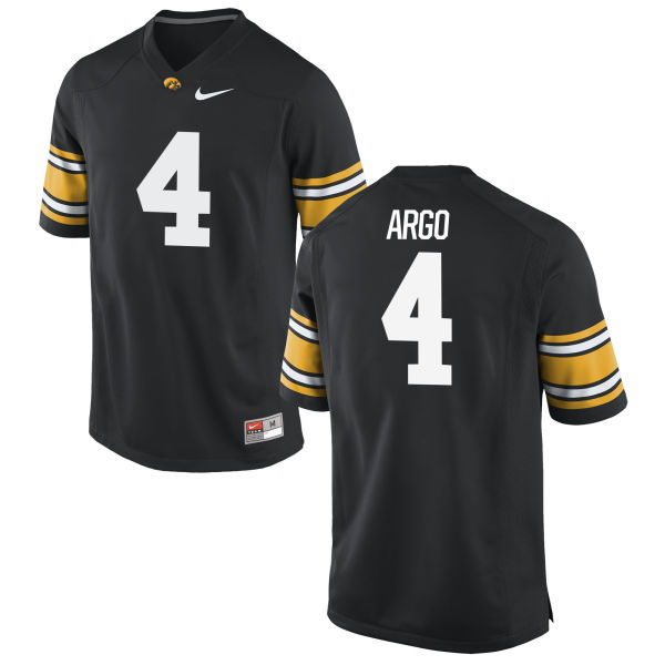 Men's Nike Joe Argo Iowa Hawkeyes Game Black Football Jersey