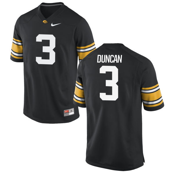 Men's Nike Keith Duncan Iowa Hawkeyes Game Black Football Jersey