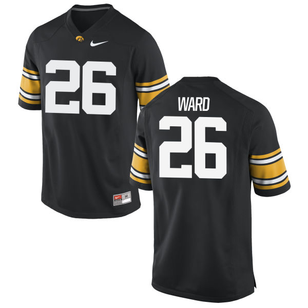 Men's Nike Kevin Ward Iowa Hawkeyes Game Black Football Jersey