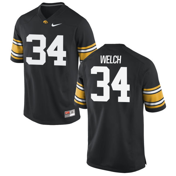 Men's Nike Kristian Welch Iowa Hawkeyes Game Black Football Jersey