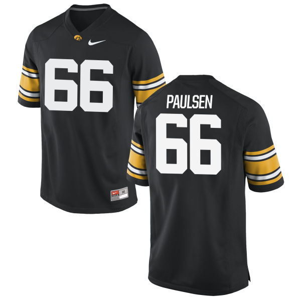 Men's Nike Levi Paulsen Iowa Hawkeyes Game Black Football Jersey