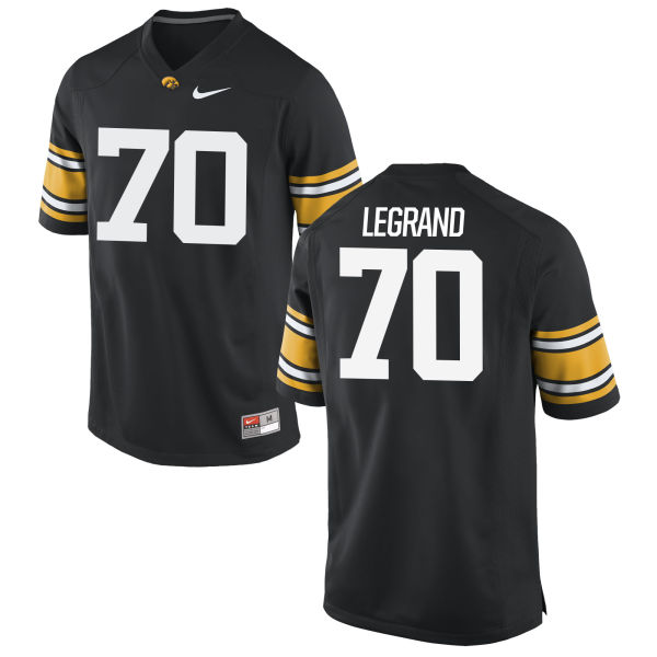 Men's Nike Lucas LeGrand Iowa Hawkeyes Game Black Football Jersey