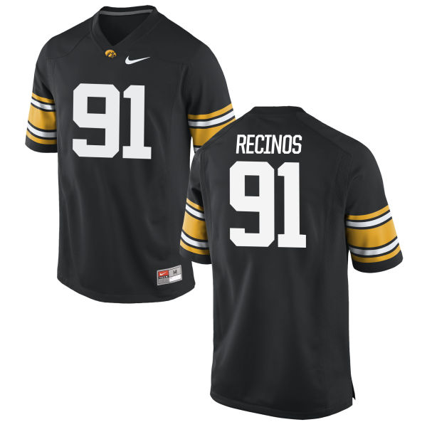 Men's Nike Miguel Recinos Iowa Hawkeyes Authentic Black Football Jersey